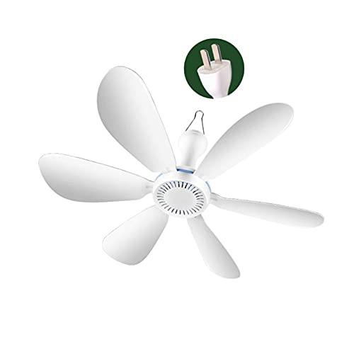 DOUYUAN Ventilador de Techo, 220V 20W de 6 Palas 16,5 Pulgadas silencioso del hogar Dormitorio de Noche Ventilador de Techo para Ahorrar energía y refrigeración (Color : US W)