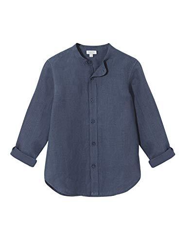 Gocco Jungen Camisa Lino Cuello Mao Businesshemd, Grün (Verde Petroleo S02cmlca902vs), 152 (Herstellergröße: T 11-12)