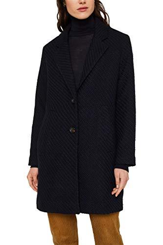ESPRIT Damen 010EE1G313 Mantel, Blau (Navy 400), Small (Herstellergröße:S)