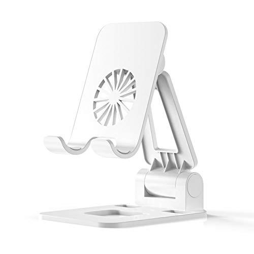 USNASLM Soporte portátil plegable de metal para tableta de aleación ajustable, para iPhone, iPad, escritorio, soporte de escritorio