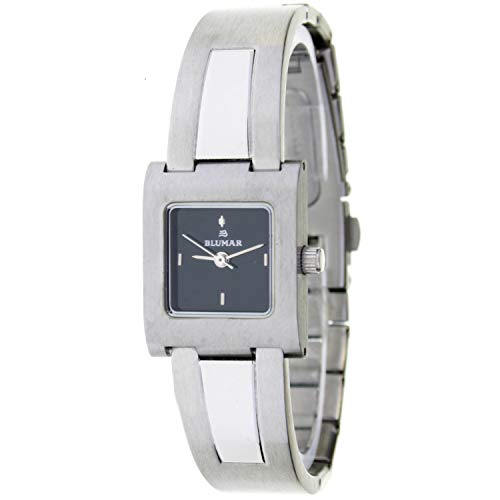 Blumar Bl-09356 Reloj Analogico para Mujer Caja De Metal Esfera Color Negro