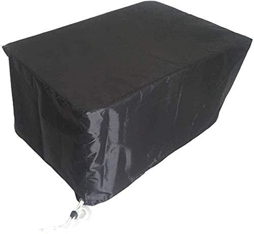 dfff Funda para Muebles de jardín, Impermeable Funda Protectora de Asiento a Prueba de Polvo Tela Oxford Negra Pesada Tamaño Personalizable (Color: Negro, Tamaño: 126 × 126 × 74cm)