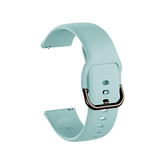 Pulsera De Banda De Banda De Reloj De Silicona De 20 Mm. 10688 (Band Color : Light blue, Band Width : 20mm)