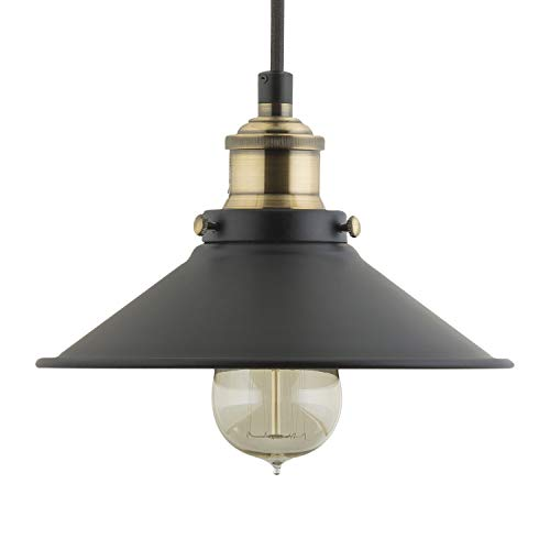 Andante LED Industrial Kitchen Pendant Light – Antique Brass Hanging Fixture - Linea di Liara LL-P407-LED-AB