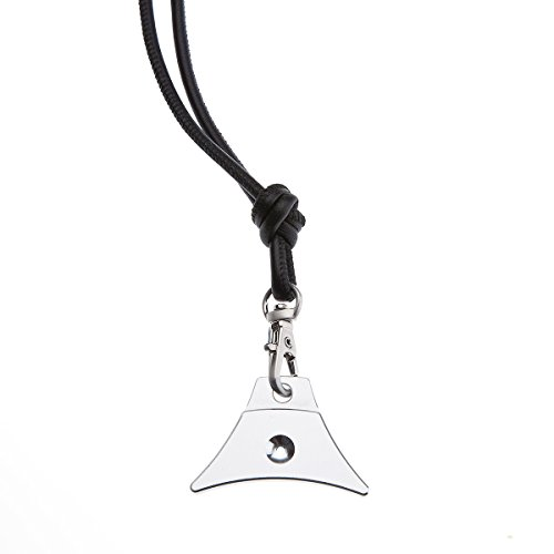 Logan Whistles A1Hundepfeife für Schäfer und Lamm Nappa Lanyard, Silber/schwarz