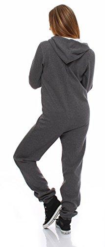 Hoppe Damen Jumpsuit Jogger Einteiler Jogging Anzug Trainingsanzug Overall (Grau) - 3