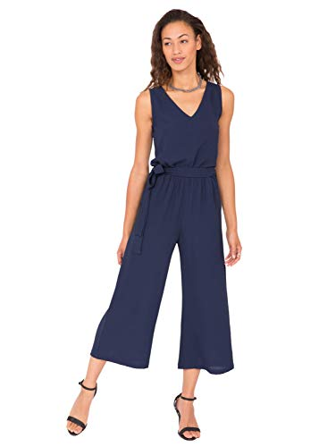 likemary Wide Leg Culotte Jumpsuit Blue M