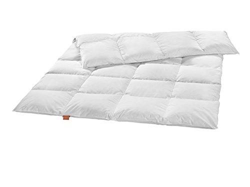 sleepling baby Daunendecke medium Ganzjahresdecke (300 gr. Füllgewicht) aus weißen Daunen (90%) und Federn (10%) 100 x 135 cm, weiß
