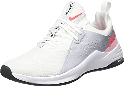 Nike Wmns Air MAX Bella TR 3, Zapatillas Deportivas Mujer, White BRT Crimson Football Grey Arctic Punch Dk Smoke Grey White, 37.5 EU