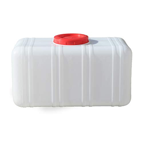 YXYXX Material HEPE Bidón, Tanque De Agua con asa, para Acampar en Casa al Aire Libre, Senderismo, Picnic, Barbacoa/Blanco / 50L
