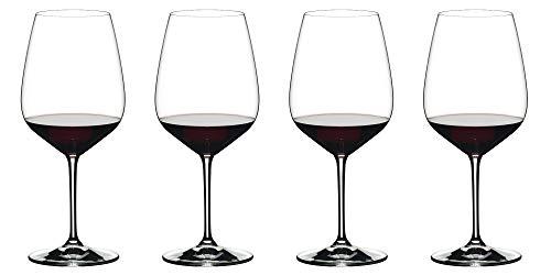 Riedel Vinum Extreme - Juego de 4 copas de vino tinto, ideal para cabernet, Bourdeaux