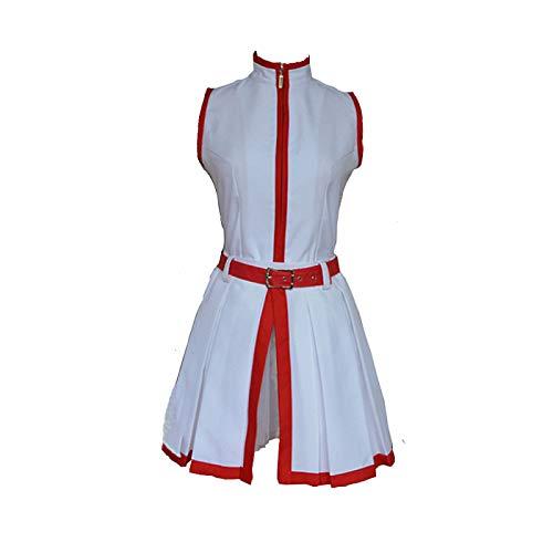 Anime Akame ga Kill Akame Cosplay Kostüm Weiß Ärmellos Uniform Kleid Halloween Geburtstagsgeschenk für Frauen Gr. Medium, weiß