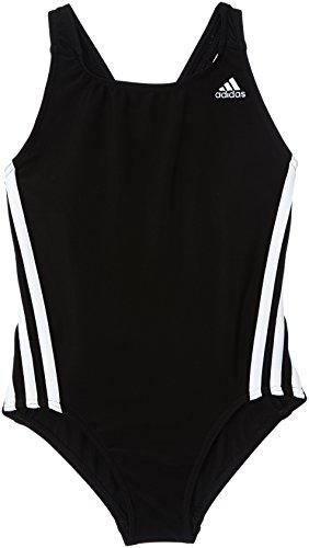 adidas Mädchen Badeanzug Infinitex 3-Stripes 1 Piece, Black DD/White, 140, Z29299