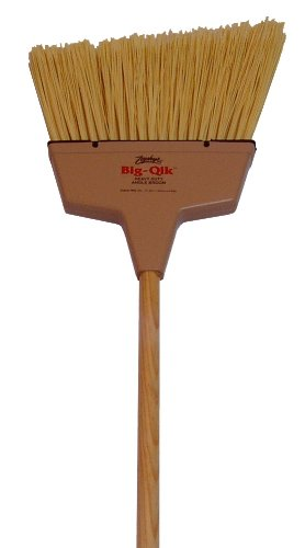 "Zephyr 34078 Zip-Qik Wide Angle Broom with Plastic Handle, 9"" Head Width, 40"" Overall Length, Natural (Case of 12)"