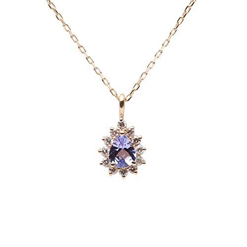 タンザナイト ネックレス Color Jewels ペンダント タンザナイト K10 レディース [ギフトラッピング済み]