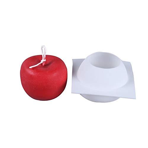 HONGTAI Mold Kerzen Hochzeit Dekoration Apple-Form-Silikon-Seifen-Formen