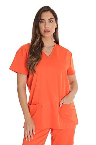 Just Love Stretch-Top für Damen -  Orange -  Klein