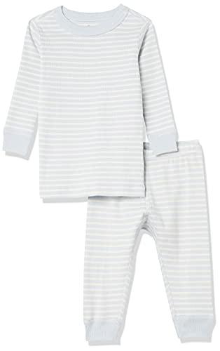 Moon and Back by Hanna Andersson Pyjama 2 pièces à rayures, à manches longues, en coton bio pour tout-petits, bébés, Motif rayures Bleu clair, 3 ans (87-97 CM)