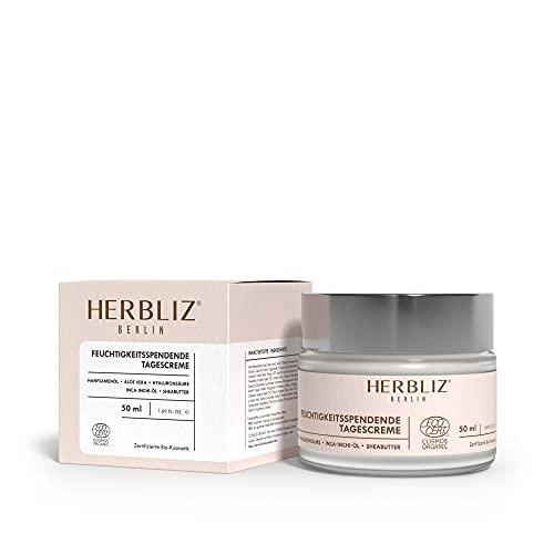 HERBLIZ 100% Natürliche Tagescreme 50ml | Anti Falten Gesichtscreme mit Hyaluronsäure, Shea Butter, Jojoba Öl, Hanföl Bio | Skincare | Naturkosmetik Feuchtigkeitscreme gegen sehr...