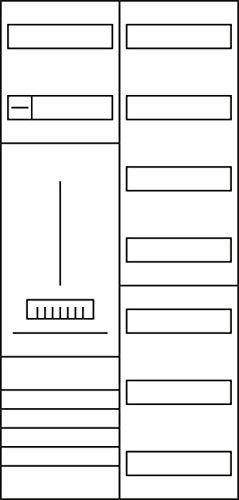 Hager Komplettschrank, univers Z ZB325C17ZN