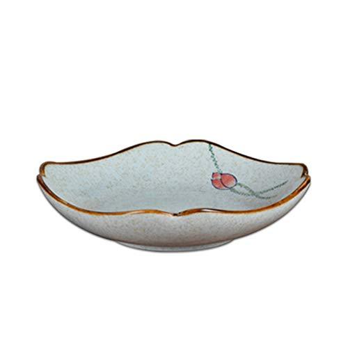 Placa de servir plato creativo vajilla de cerámica placa de sopa