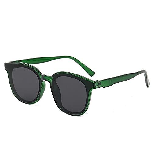 Gafas de sol 1 pieza para hombres y mujeres, gafas de sol clásicas redondas cuadradas UV400 para el conductor al aire libre (color: F)