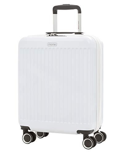 imome Fresh Maleta de Cabina Blanca 55x40x20/23 cm Expandible | Equipaje de Mano, Trolley de Viaje Ryanair, Easyjet | Maleta de Viaje Rígida 100% ABS Reforzado, Antiarañazos, Ultra Ligera
