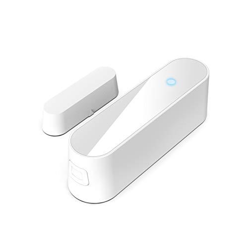 Lilon ZigBee Smart Life - Sensor de puerta inteligente antirrobo, sensor de ventana, alarma magnética, sensor magnético independiente