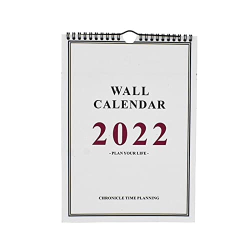 YYDMBH Wall Calendar 2022 Hand-Painted Wall Calendar Calendar Wall Calendar Practical Note-Taking Hanging Calendar Planner Calendar Home Decoration (Color : Red)