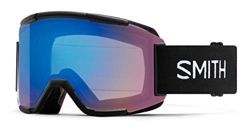 Smith Optics Squad Ski- Snowboardbrille Black - ChromaPOP Rose Flash Strom + Yellow