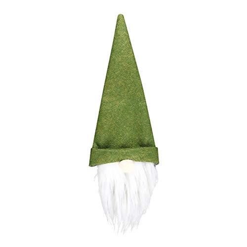 Livecitys Weinflaschen-Abdeckung, Weihnachtswichtel, Champagnerflaschen, Hülle, Geschenktüte, Dekoration für Esszimmer Party, Grün