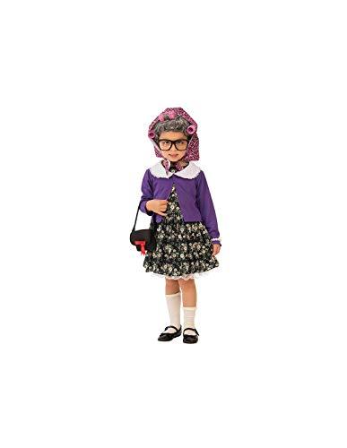 DISBACANAL Disfraz de Abuela para niña - -, 3-4 años
