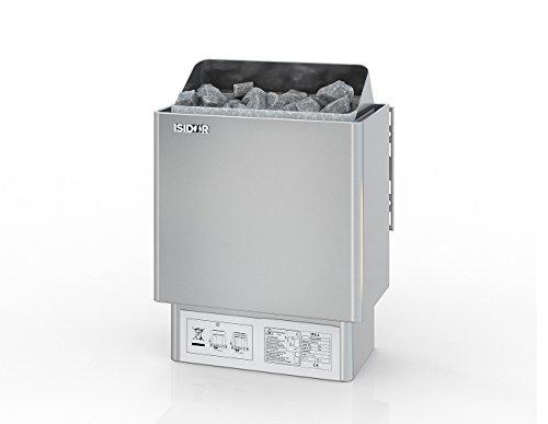 Premium Gartensauna Vapor mit Elektro- Saunaofen Irmina Slimline mit 9 kW Heizleistung und externer Steuerung für den Außenbereich