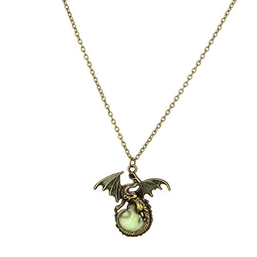 Nuevo Collar Retro Luminoso Juego De Tronos Aleación De Dragón Luminoso Accesorios Colgantes Para Hombres Joyería Tendencia De La Joyería