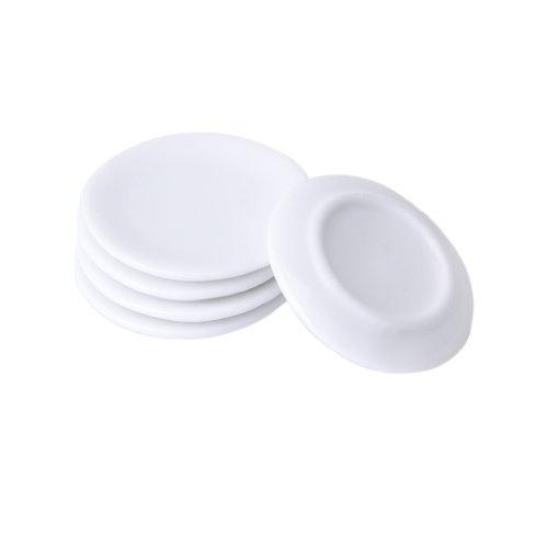 1:12 escala 2 Blanco Cerámica Tazas /& Manchado Motivo Casa De Muñecas Accesorio de Cocina