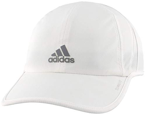adidas Women's Superlite Relaxed Adjustable Performance Cap, White/Light Onix, One Size