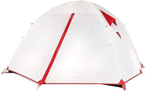 LKOER Tienda de campaña, Ultraligero campaña de campaña al Aire Libre Doble Capa Sun Refugio Instant Cabana Cabaña Portátil Canopy para Senderismo Wilderness Supervivencia Montañismo Camping, jinyang