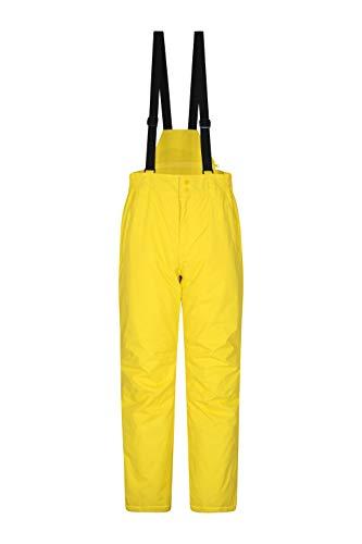 Mountain Warehouse Dusk Skihose für Herren - Winterhose mit Zwei Taschen, Wasserfeste Herrenhose mit Elastikbund - Ideal zum Snowboarden Helles Gelb Large
