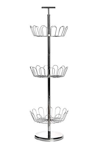 Premier Housewares - Mueble para Zapatos Giratorio (98 x 29 cm, 3 estantes), Color Blanco