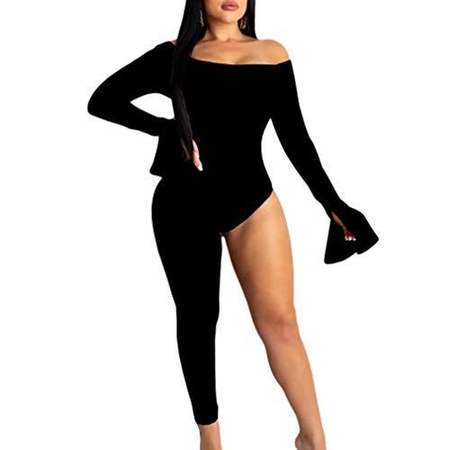 Jumpsuit De Yoga Bodycon De Un Hombro Sexy para Las Mujeres, La Moda De Una Pieza, Los Corporales Asimétricos, Los Mamelucos, Se Pueden Usar En Ambos Lados,XL