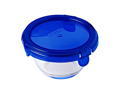 Pyrex 3426470279284 Cook & Go Runde Glasdose mit Deckel, 0,2 l, Durchmesser 11 cm, für den Ofen, zum Aufbewahren und Transportieren, durchsichtig