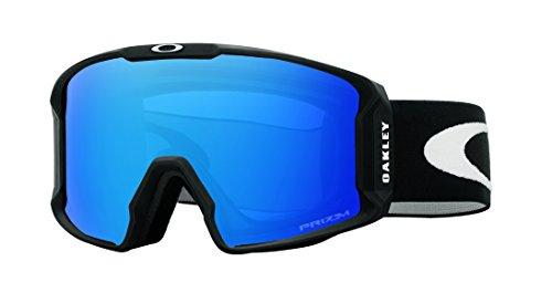 Oakley Herren Lineminer 707004 0 Sportbrille, Schwarz (Matte Black/Prizmsapphireiridium), L