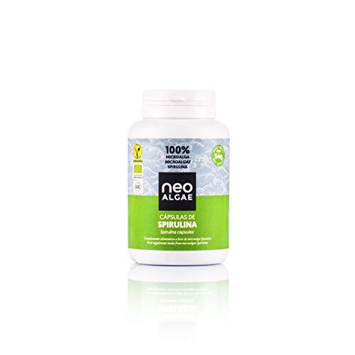 Spirulina in capsules | Natuurlijke productie | 120 Spirulina-tabletten per verpakking | Krachtige natuurlijke antioxidant | 350 mg per capsule | Neoalgae