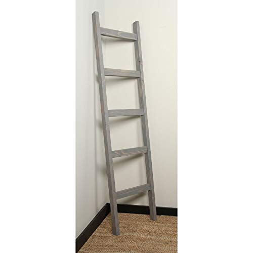 Affordable BrandtWorks 6ft Handcrafted Blanket Ladder Grey