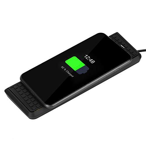 Cargador inalámbrico para automóvil, 15W Carga rápida por teléfono Cargador rápido Cargador inalámbrico delgado para automóvil Almohadilla de carga Cargador inalámbrico