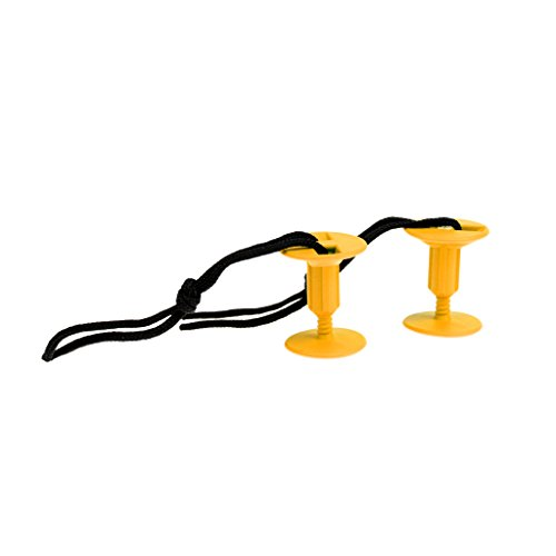 MagiDeal 2X Hebilla para Tabla de Surf Bodyboard Leash Plugs - Amarillo