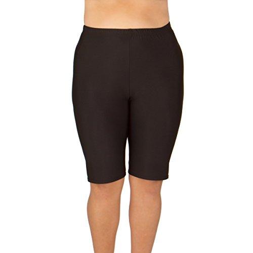 Women's Plus Size Swim Shorts - Black 5X