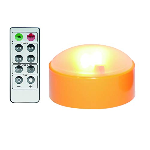Battery Operated LED Pumpkin Light with Remote and Timer Bright Realistic Flickering Decorative Plastic Flameless Electric Candle for Jack-O-Lantern Pumpkin Decor Halloween Party Holiday Decorations