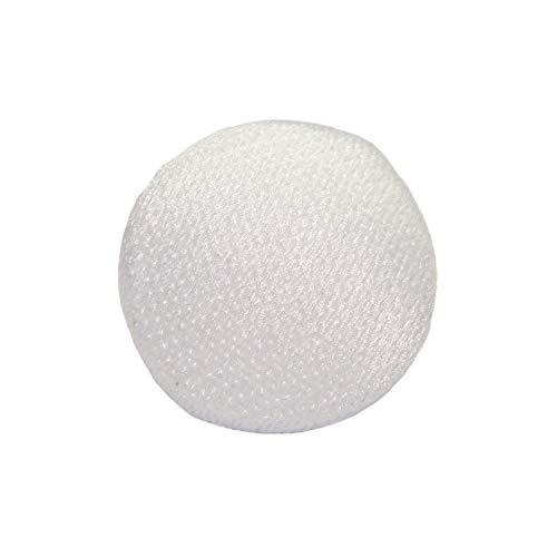 ButtonMode Fabric Covered Matte Trim Buttons with Metal Shank Back Includes 1-Dozen Buttons Measuring 11mm (7/16 Inch), Ivory, 12-Buttons Big One Satin Button