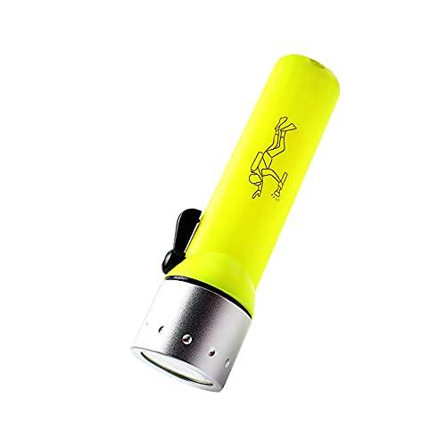 Swetup LED Linterna de Buceo, Antorcha de Buceo, 50m Luz de Inmersión Submarina Impermeable, linterna de mano, IPX-7 Linterna de Buceo Impermeable para Buceo, Natación, Senderismo, Acampada, Pesca
